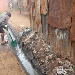 Kibera sewage cleaning